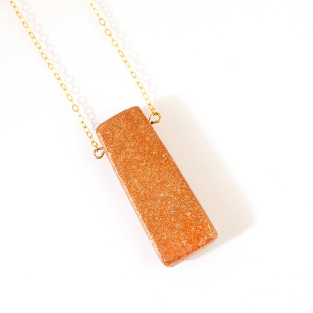 Mica Strata Pendant Necklace
