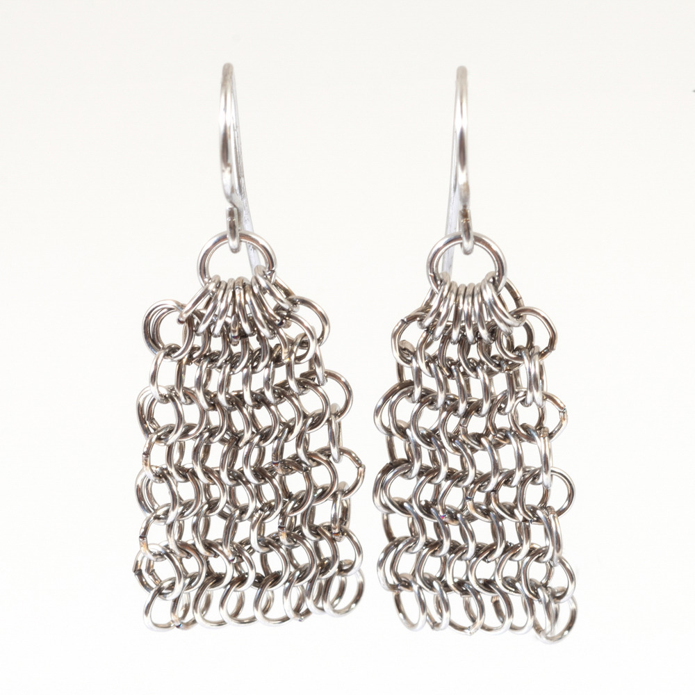 Chainmail Small Earrings