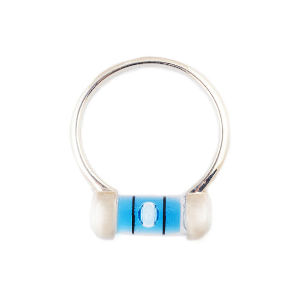 Mini U-Shank Blue Level Ring